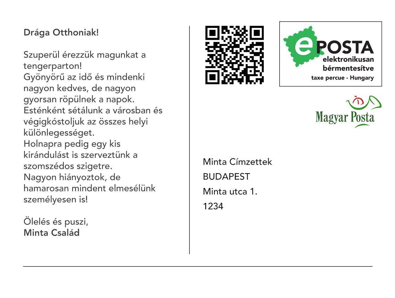 képeslap képek Magyar Posta Zrt.   Sender! – e képeslap képeslap képek
